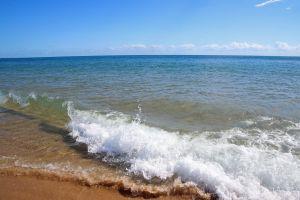 ocean blue sky holiday sea minimalism