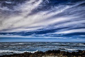 ocean environment seashore nature peaceful clouds idyllic waves scenery oceanshore
