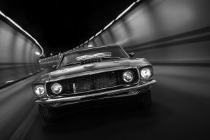 oldtimer mach i fast car fastback mens car tunel car muscle car ford mustang car racing