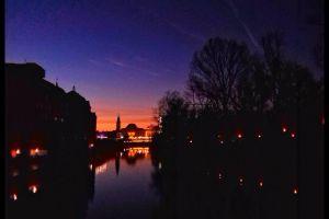oradea sunset colors orange sky
