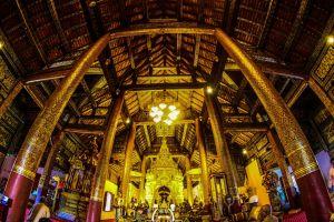 pagoda sacred landmark buddhism east worawihan historic religion temple wat