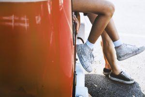 pair legs vans sneakers classic feet wear footwear woman people