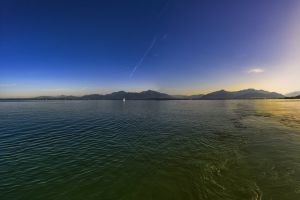 panorama mood alpine bank blue vision mountains distant distant view sky