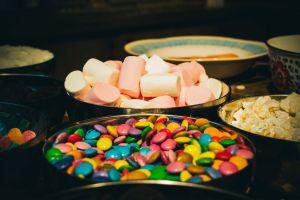 party still life sugar delicious colourful treat tasty celebration homemade bowls
