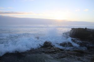 peaceful cape town background rocks sunset nature beach water sea waves