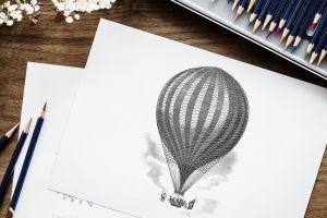 pen pencil drawing art stationery wood artist balloon workspace work