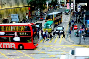 people street people walking central cars busy place hong kong traffic street photo central hong kong