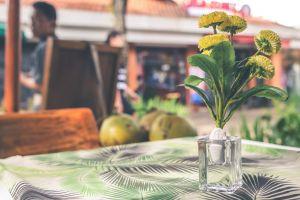 person decor flower delicate bright vase patio flora dinner design