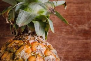 pineapple health minimalism tropical fruit close-up nutritious fruit fresh healthy growth