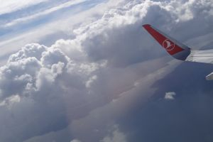 plane flight cloud airplane flying clouds