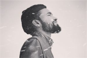 portrait facial hair snowy leather jacket loneliness facial expression winter peace retro winter jacket