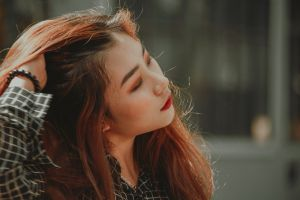 portrait fashion pretty photoshoot pose close-up girl hair beautiful person