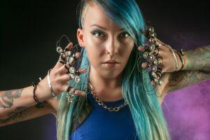 portrait model female wear fashion woman beautiful beauty pose tattoos