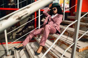 pose photoshoot female style fashionable hat lady model fashion model young