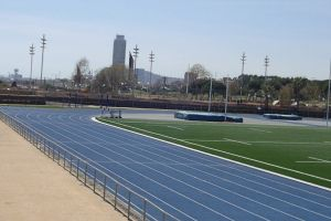 race track man daylight healthy person field
