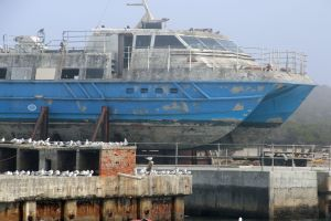 rust boat cruise ocean
