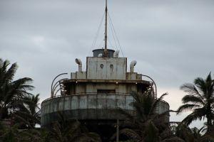 rust sail white ocean old ship ship