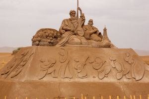 sand sculptures sand sculpture gobi china desert