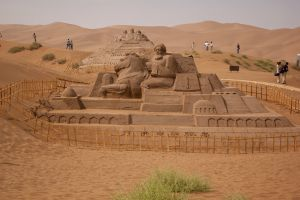 sand sculptures sculpture china desert gobi sand