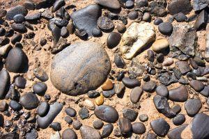 sand stones rocks pebbles