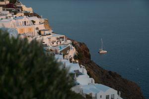 santorini sea greece landscape greek island