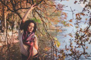 scarf fashion woman tree wear girl beauty style person beautiful