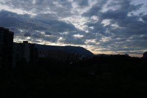 scenery sunset clouds dawn