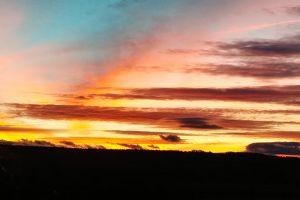scenic evening sky clouds sunset nature light daylight sun backlit