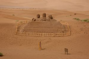 sculpture sand sculptures china gobi sand desert