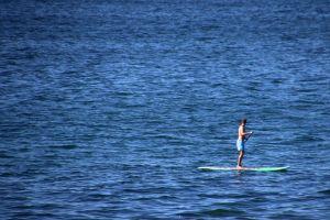 sea boats ocean holiday water paddleboard fun minimalism