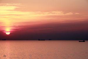 sea evening sun beautiful