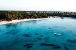 sea idyllic scenic recreation sand tropical watercraft landscape blue sky