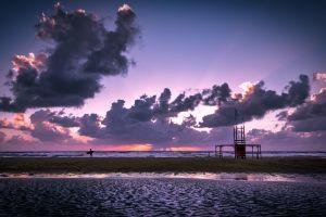 seascape sunset beach landscape sand cloud formation winter landscape ocean sky seashore
