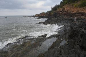 seashore rock beach rocky shore ocean shore deep sea