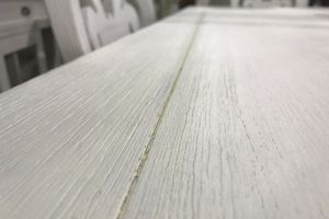 shabby chic white dining table wood depth of field texture