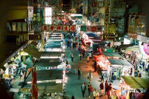 shops chinese snap analogue street china tents shopping night asia