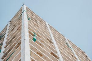 sky contemporary low angle shot facade high modern architecture concrete perspective skyscraper
