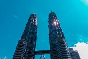sky skyscraper malaysia petronas twin towers kuala lumpur tower