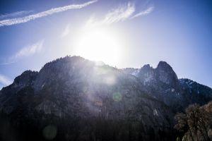 sky sun yosemite mountain bright blue outdoor