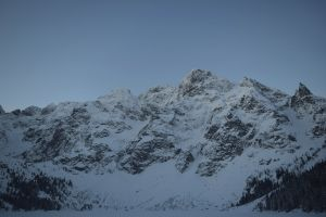 snow capped mountain mountains scenic ice blue hill glacier winter cold high tatras