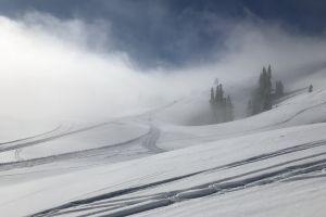 snow sunshine winter mountain