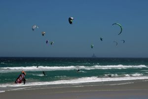 sport nautical wind nature fun ocean kites play waves wind surf