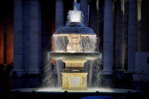 st. peter fountain night