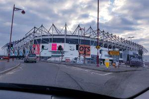 stadium car drive football stadium driving