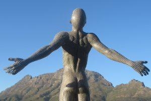 statue free stretch people cape town man body art everyday