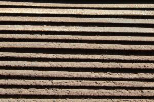 steel wall design industry modern textured pattern horizontal grill surface