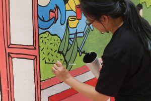 streetart art paint painting people human