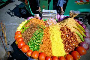 streets sell food market sale vegetable healthy