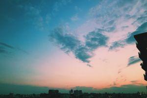 sunrise dawn clouds sky sunset hd wallpaper backlit