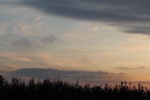 sunrise landscape yellow summer sun dawn green sky road orange